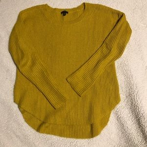 Express Mustard Yellow Cotton Mohair Pullover